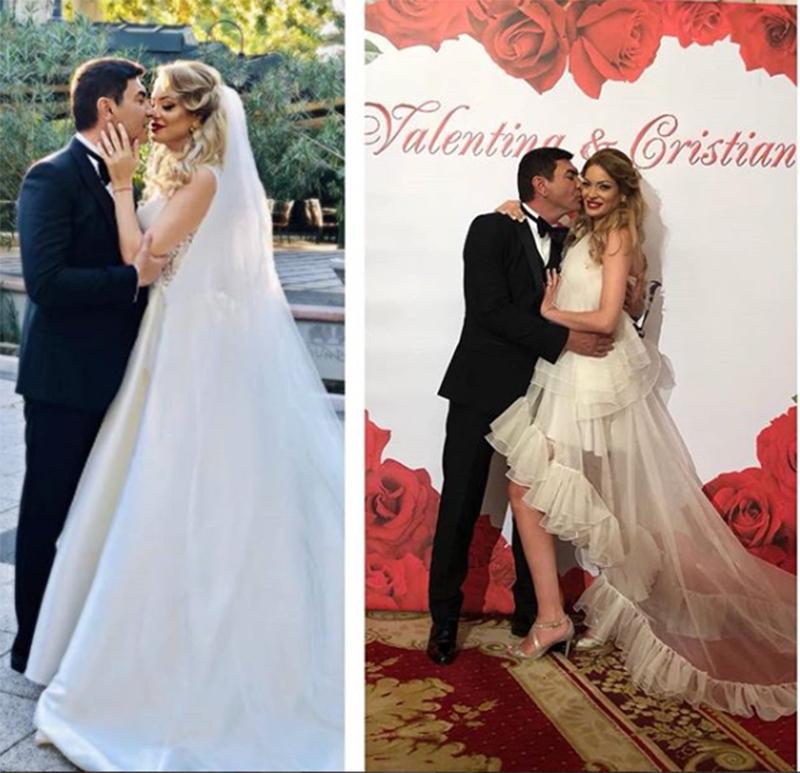Valentina Pelinel a purtat două rochii de mireasă