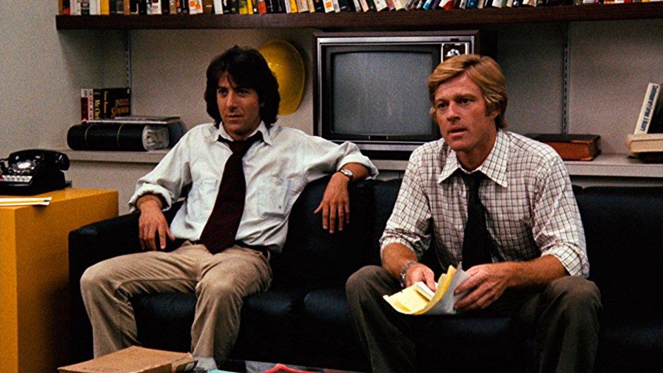 Captură din All the President's Men, filmul pentru a cărei scenografie a primit Oscarul în 1977