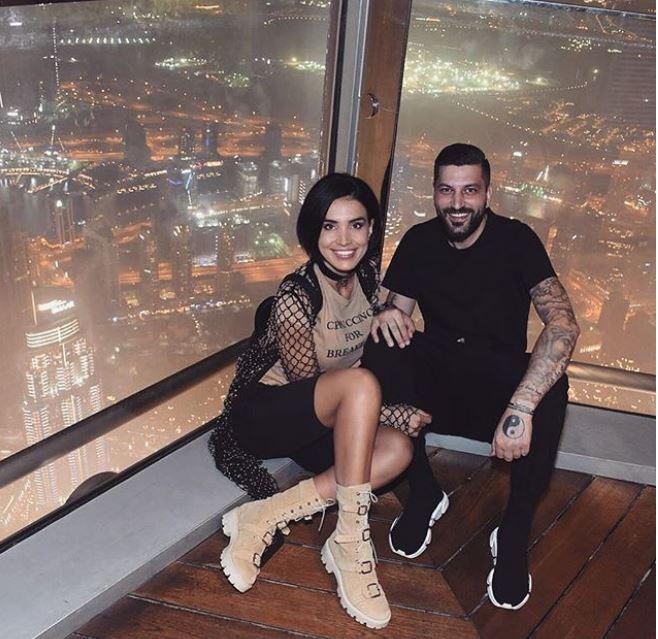 Adelina Pestriţu, alături de viitorul soţ, Virgil Steblea, în vacanţa din Dubai