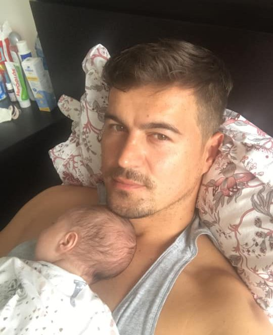 Adrian Alexandrov, poză alături de fiica sa, Eva Maria