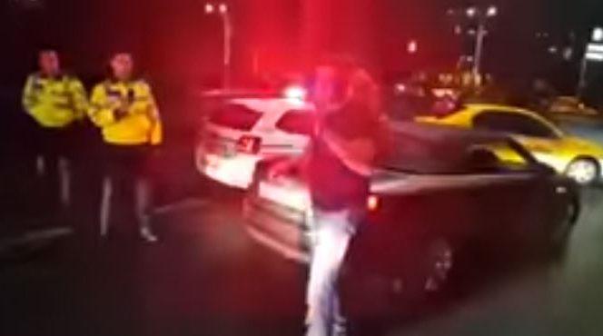 Imagini de la scandalul lui Cristian Boureanu cu polițiștii