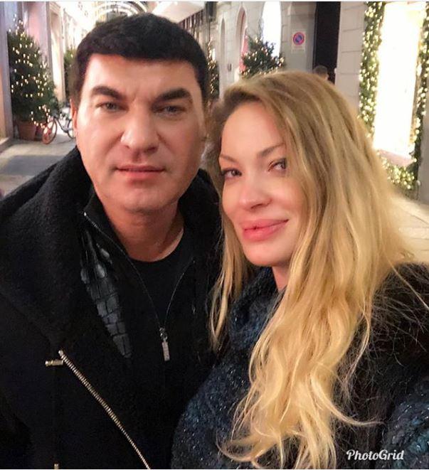 Valentina Pelinel radiază alături de soțul său, Cristian Borcea