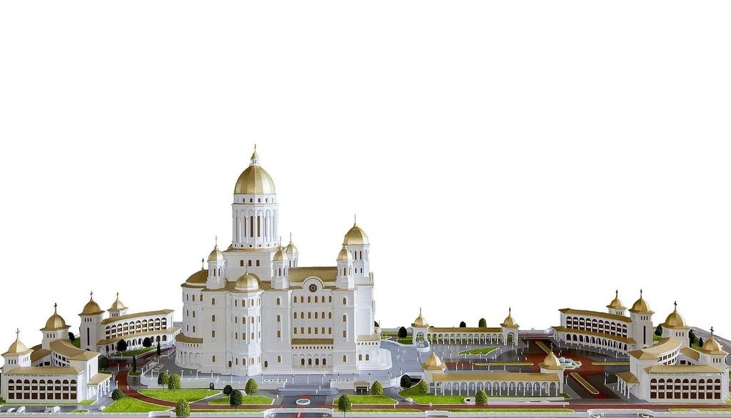 credinciosii au fost adusi cu autocarele la sfintirea catedralei mantuirii neamului