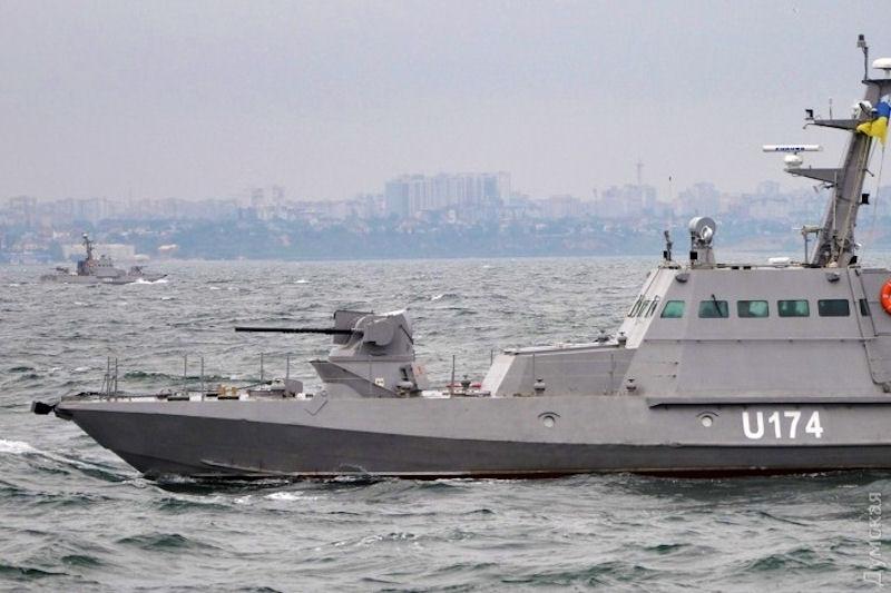 Aşa arată una dintre navele care au fost capturate de ruşi ce aparţin Ucrainei