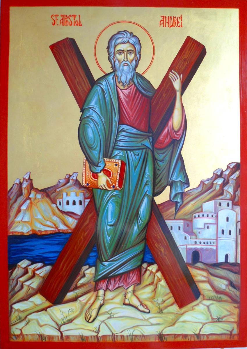 Sfântul Apostol Andrei a fost martirizat pe cruce, cu capul în jos, pentru iubirea și credința sa în Dumnezeu. Se întâmpla pe 30 noiembrie 60, în Patras, Grecia