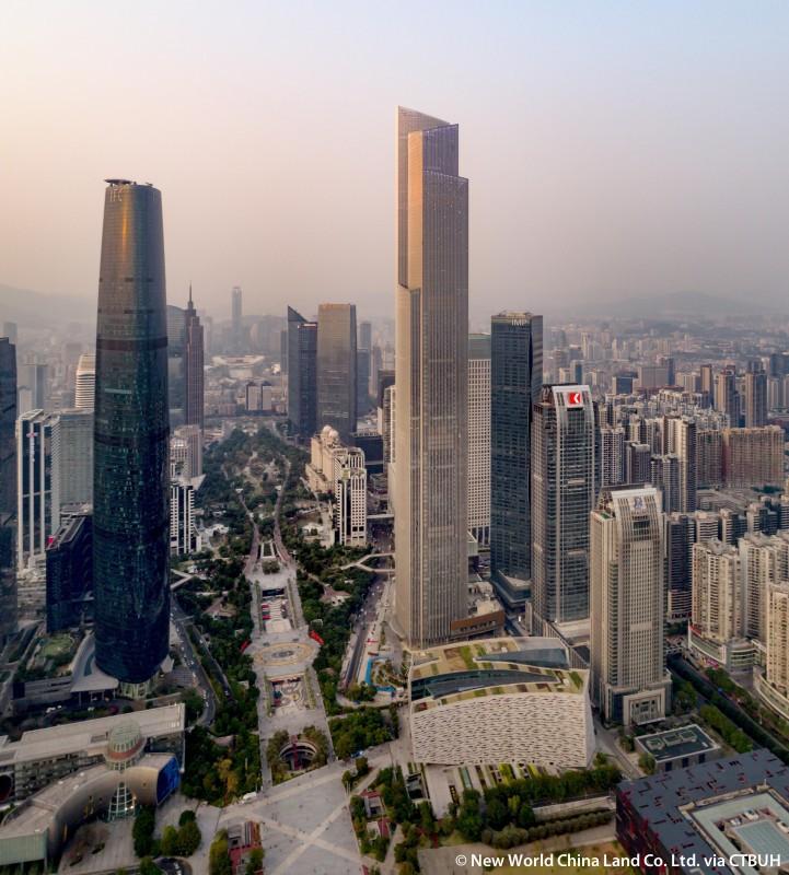 Cele mai înalte 10 clădiri din lume: Guangzhou CTF Finance Centre - 530 m, 111 etaje. Cea mai înaltă clădire din Guangzhou, China