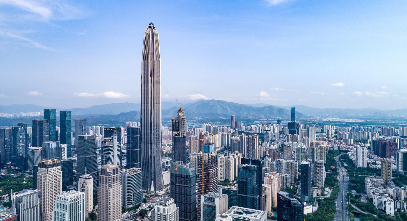 Cele mai înalte 10 clădiri din lume: Ping An Finance Center - 599,1 m, 118 etaje. Cea mai înaltă clădire din Shenzhen, China
