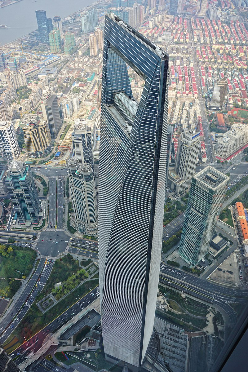 Cele mai înalte 10 clădiri din lume: Shanghai World Financial Center - 592 m, 101 etaje. A doua clădire, ca înălțime din Shanghai, China