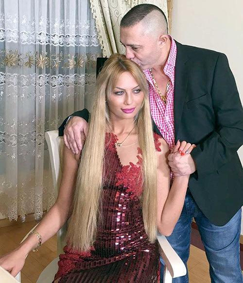 Nicolae Guță împreună cu soția sa, Cristina