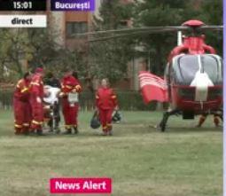 Florin Busuioc a fost transportat la București cu un elicopter SMURD