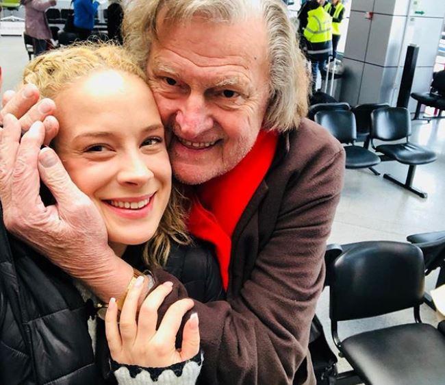 Florin Piersic, fără machiaj, împreună cu actrița Diana Roman.