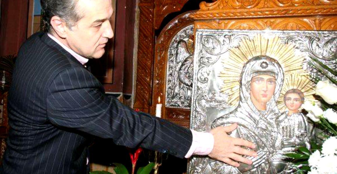 gigi becali la sfintirea catedralei mantuirii neamului
