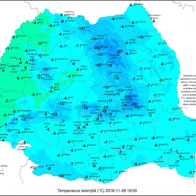 Harta României şi valul rece