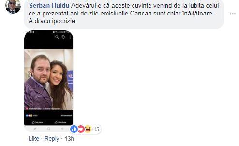 Comentariul lui Şerban Huidu la postarea Ioanei Dichiseanu
