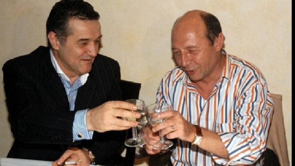 """Mâncarea preferată a lui Traian Băsescu era cândva... șprițul cu Gigi Becali la """"Golden Blitz"""", după victoriile istorice ale Stelei în cupele europene"""