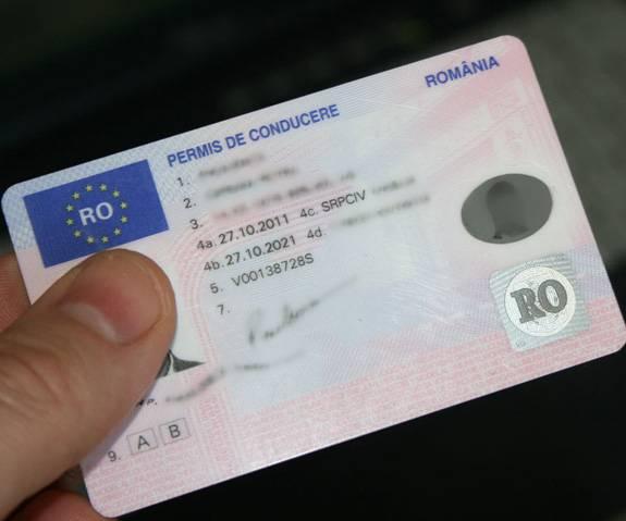 Permis de conducere românesc: specimen