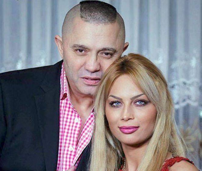 Nicola Guță împreună cu Cristina, cea care îl va face tată pentru a 12-a oară
