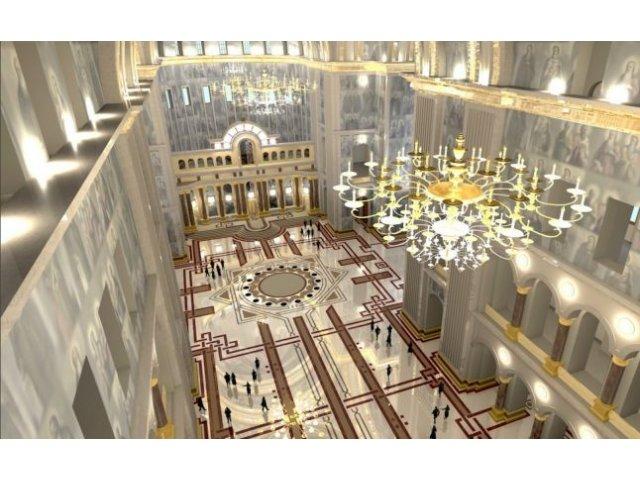 Primele imagini din interior noii Catedrale! Altar poleit in aur, fantani arteziene, lifturi de 105.000.000 euro!