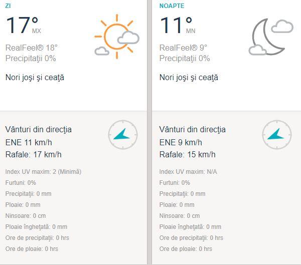 Prognoza meteo duminică, 4 octombrie pentru Constanța