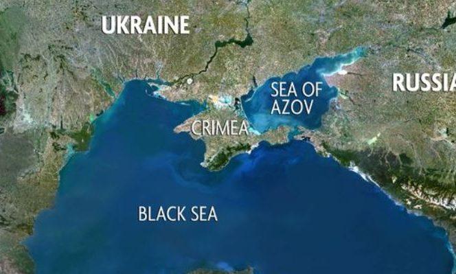 Marea Neagră scăldând apele României, Ucrainei şi Rusiei