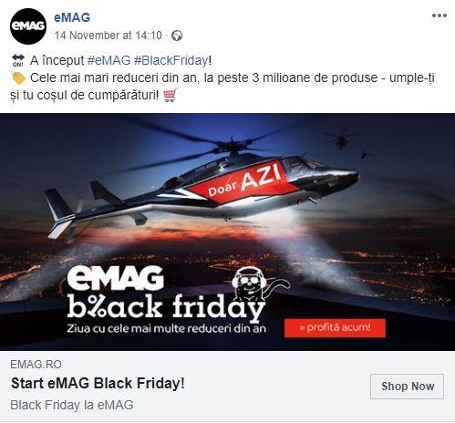 Postarea eMAG la care clienţii şi-au vărsat nemulţumirile. Captură de pe pagina de Facebook a eMAG