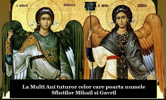 Sfinții Arhangheli Mihail și Gavriil dau numele pentru peste 1,3 milioane de români care își sărbătoresc onomastica pe 8 noiembrie