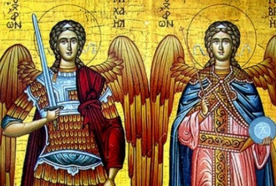 """Sfinții Arhangheli Mihail și Gavriil aduc finii la nași cu """"plocon"""" și colaci. Nu uitați să aprindeți o lumânare!"""