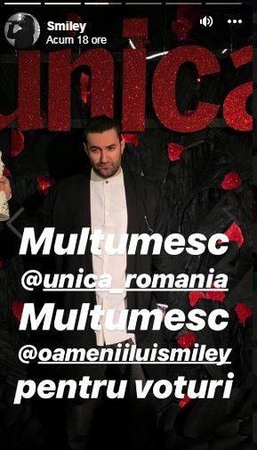 Smiley a fost desemnat bărbatul anului 2018 la Gala Unica