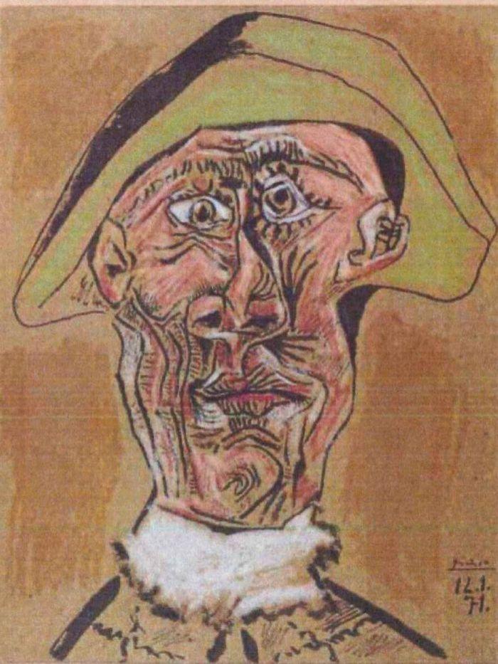 Tete D'Arlequin, tabloul lui Picasso, găsit la un copac dintr-un sat din Tulcea.