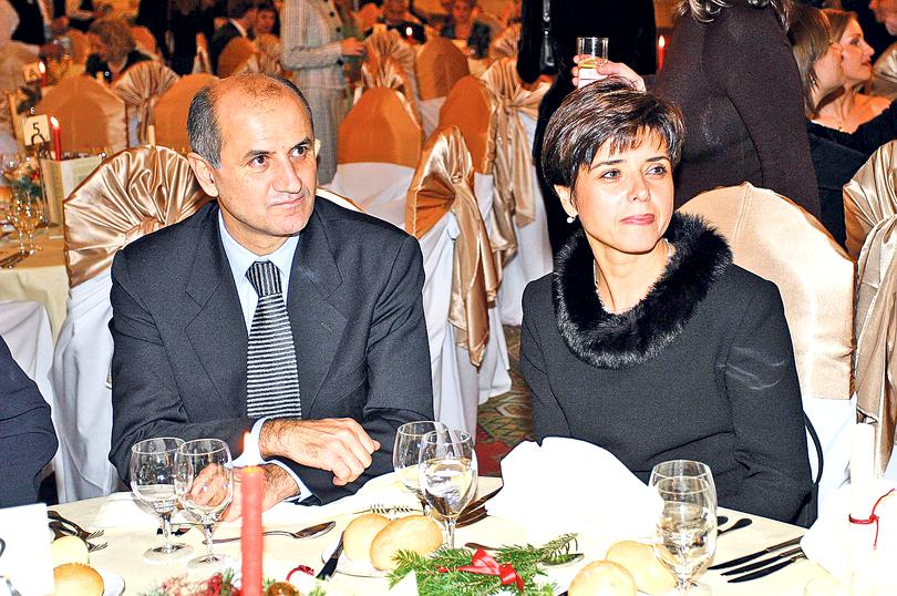 George Copos și Cristiana Copos, fosta lui soție.