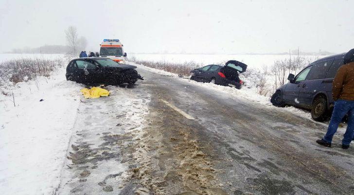 Imagine de la accidentul din Timişoara