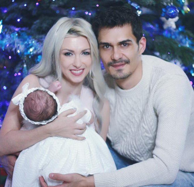 Andreea Bălan alături de George Burcea și fetița lor
