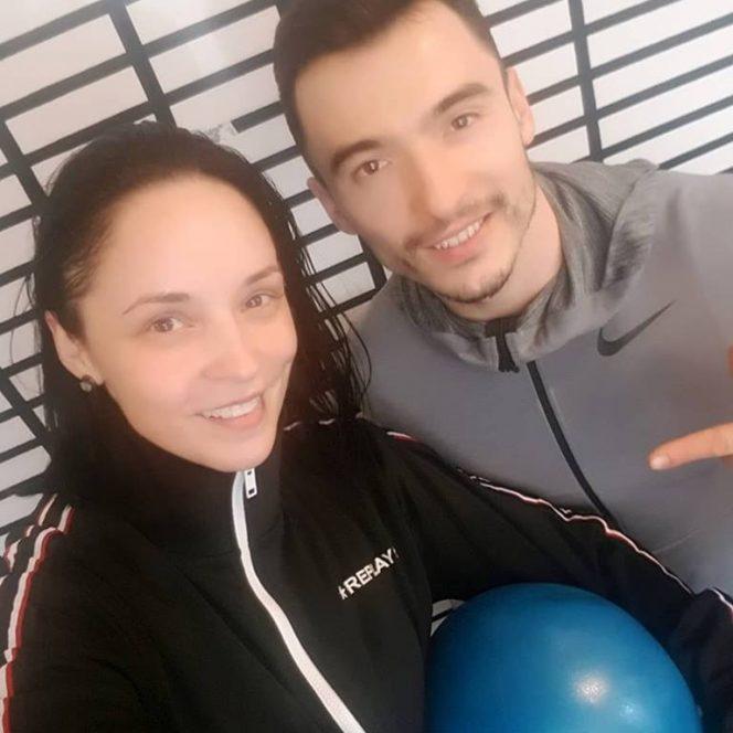 Andreea Marin, la prima oră de sport după operație, alături de antrenorul său