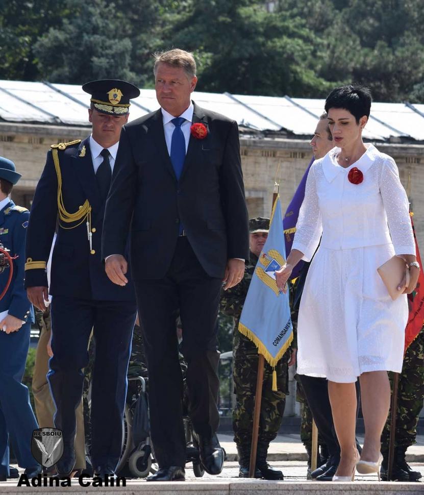Delia Dinu alături de preşedintele României, Klaus Iohannis