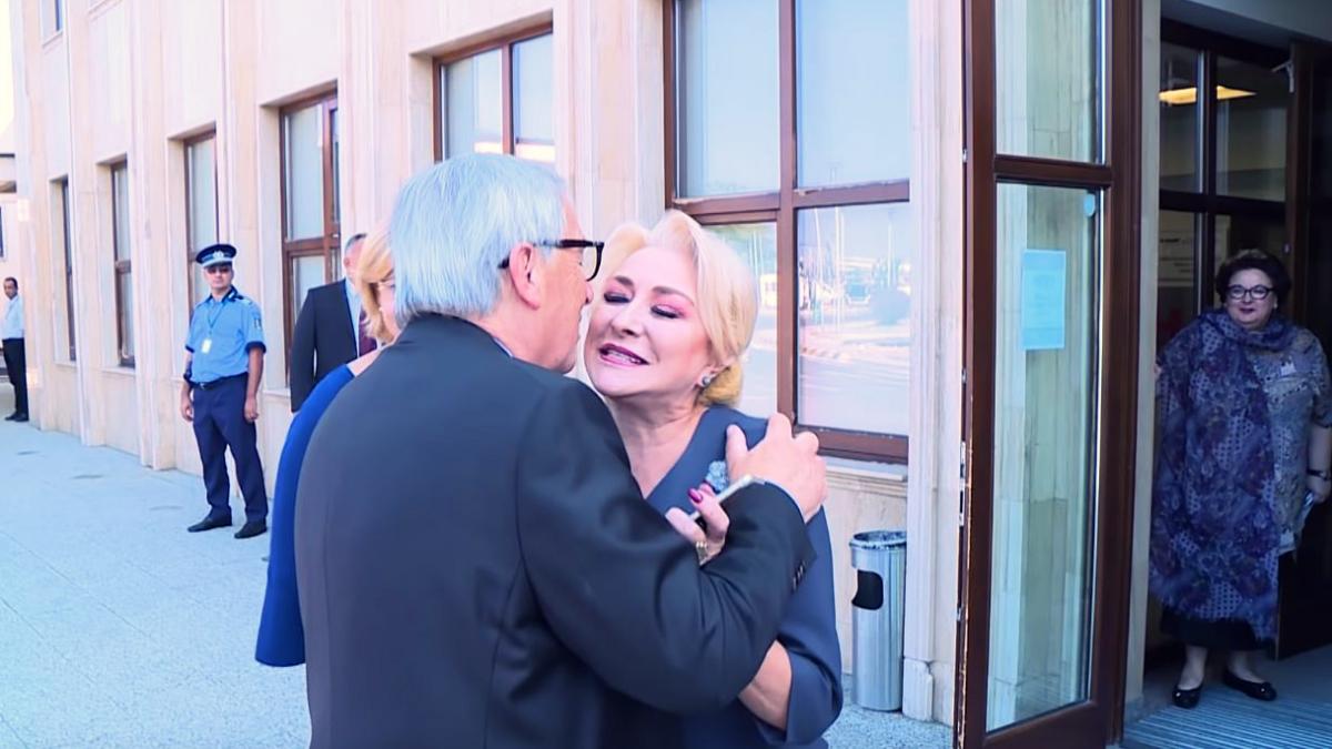 În ce ipostază au fost surprinși premierul Viorica Dăncilă și Jean-Claude Juncker!