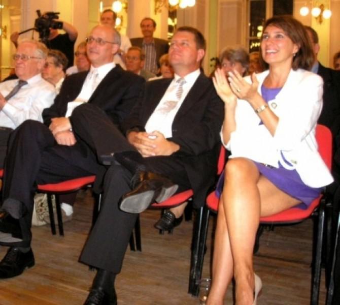Carmen Iohannis, alături de soțul său și președintele României, Klaus Iohannis