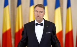 Klaus Iohannis, preşedintele României, în timpul unei declaraţii publice