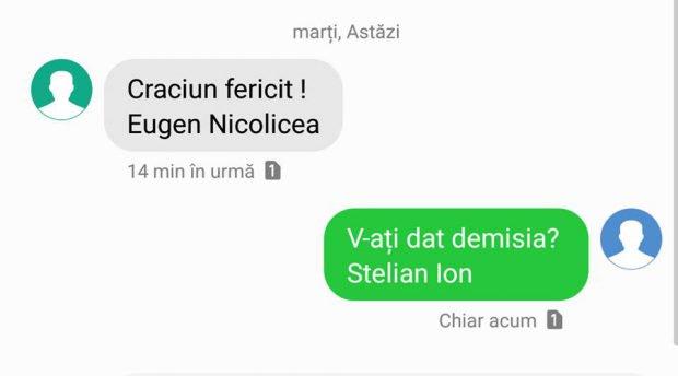 Mesaje Stelian Ion și Eugen Nicolicea