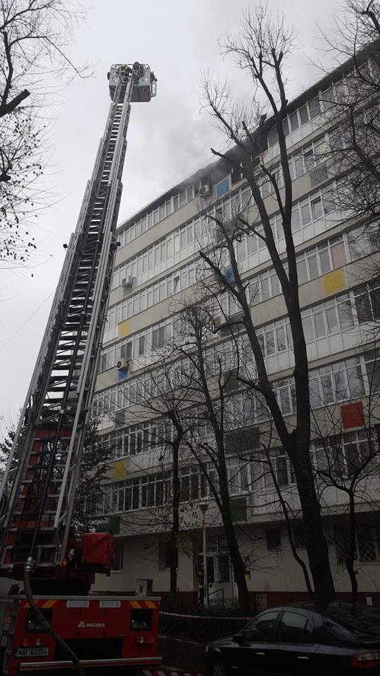 Incendiu violent în Bucureşti, pe Bulevardul Ion Mihalache
