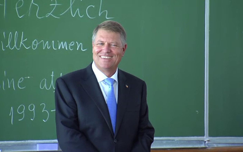 Klaus Iohannis, mesaj pentru elevii din ţară: