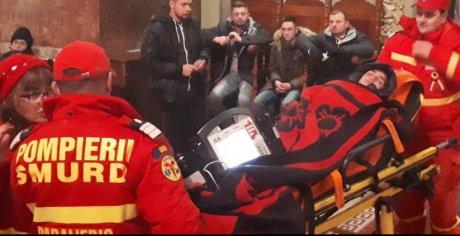 Copilul de 11 ani care a fost transportat de către SMURD la spital. După câteva ore, băiețelul a fost pus pe picioare și s-a întors în sânul familiei sale.
