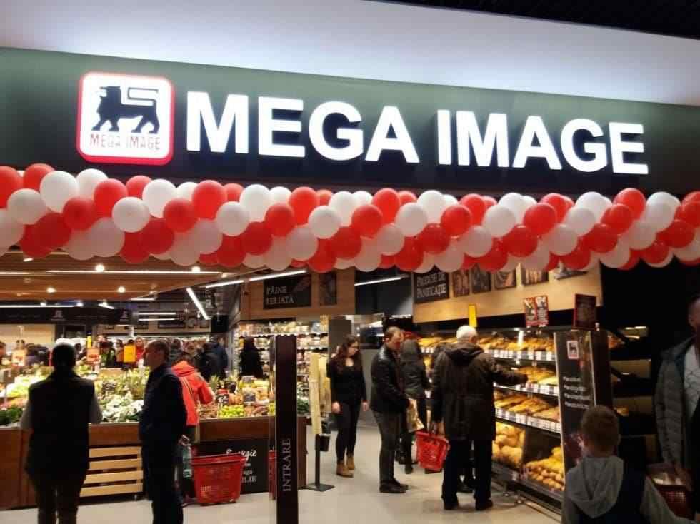Mega Image are un lanț de 430 de magazine în București, din totalul de 623 din România