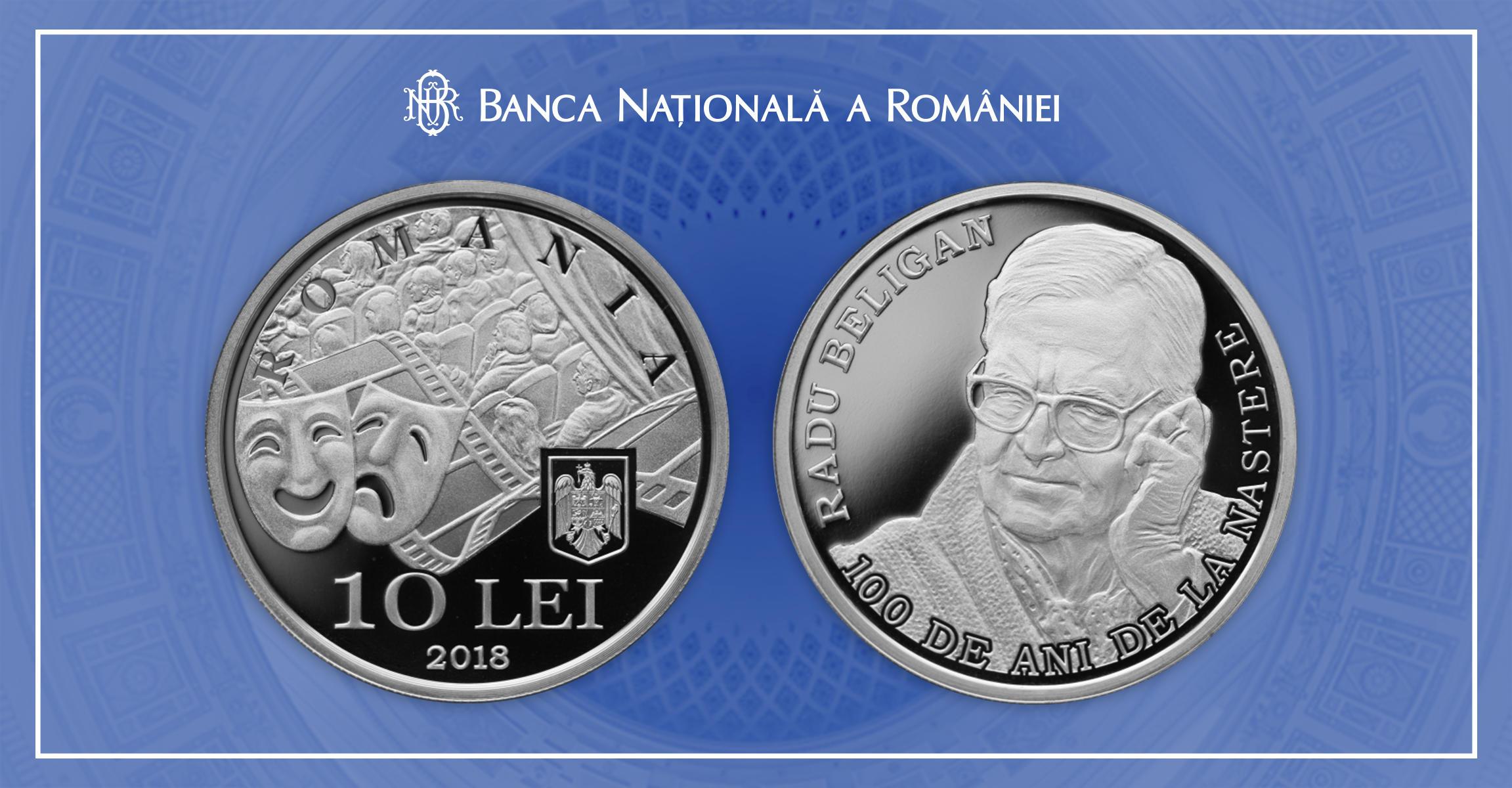 Cum arată moneda din argint cu chipul lui Radu Beligan, lansată de BNR! Atenție, colecționari!
