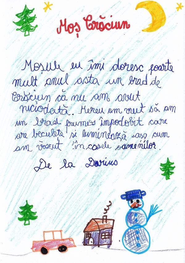 Scrisoare pentru Moș Crăciun!