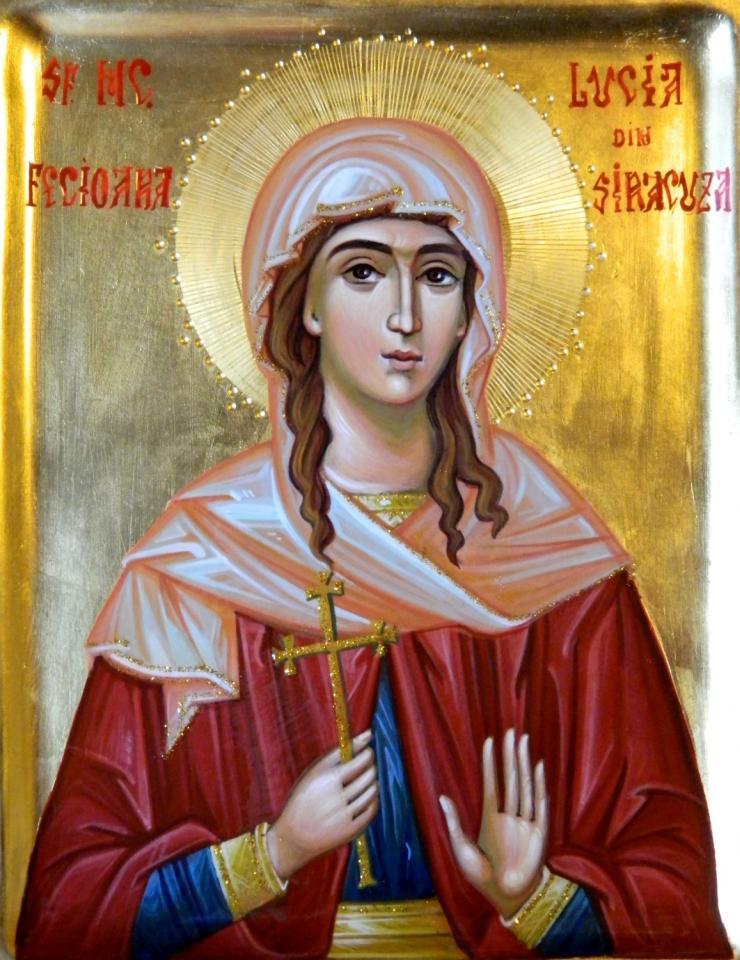 Calendar ortodox 13 decembrie: Sfânta Muceniță Lucia, fecioara