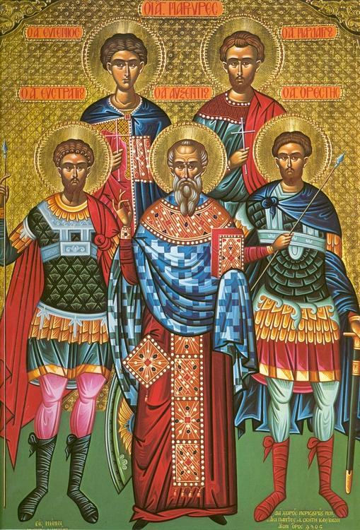 Calendar ortodox 12 decembrie: Sfinții Mucenici Eustratie, Auxentie, Evghenie, Mardarie și Orest