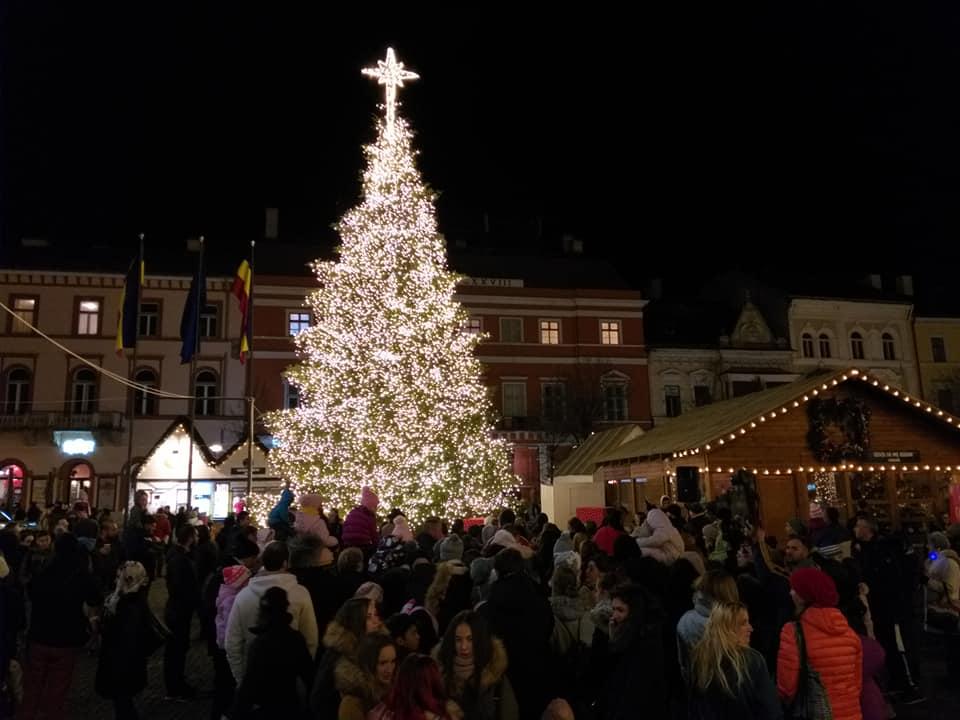 Bradul de la Târgul de Crăciun din Cluj Napoca