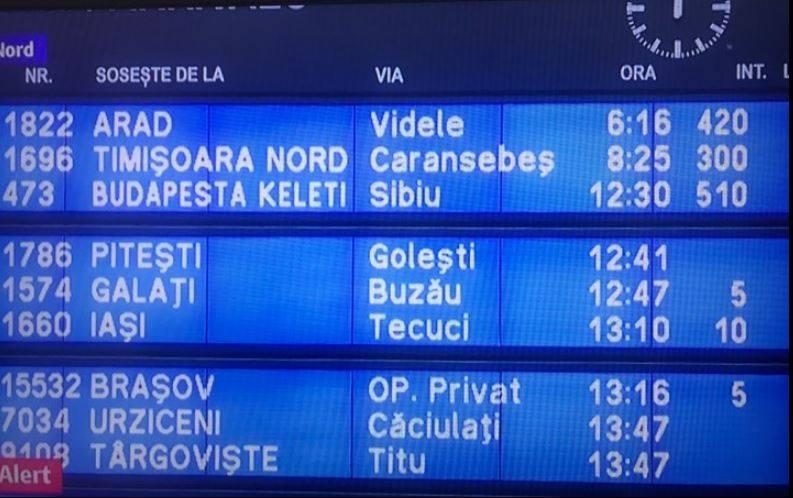 Trenurile CFR de la Timișioara, RECORD de întârzieri! 1230 de minute
