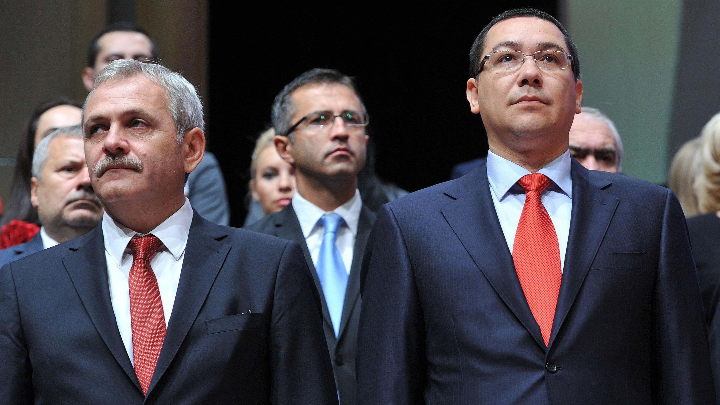 Liviu Dragnea, alături de Victor Ponta în cadrul unei şedinţe foto