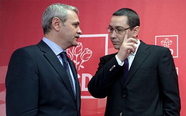 Victor Ponta, alături de Liviu Dragnea